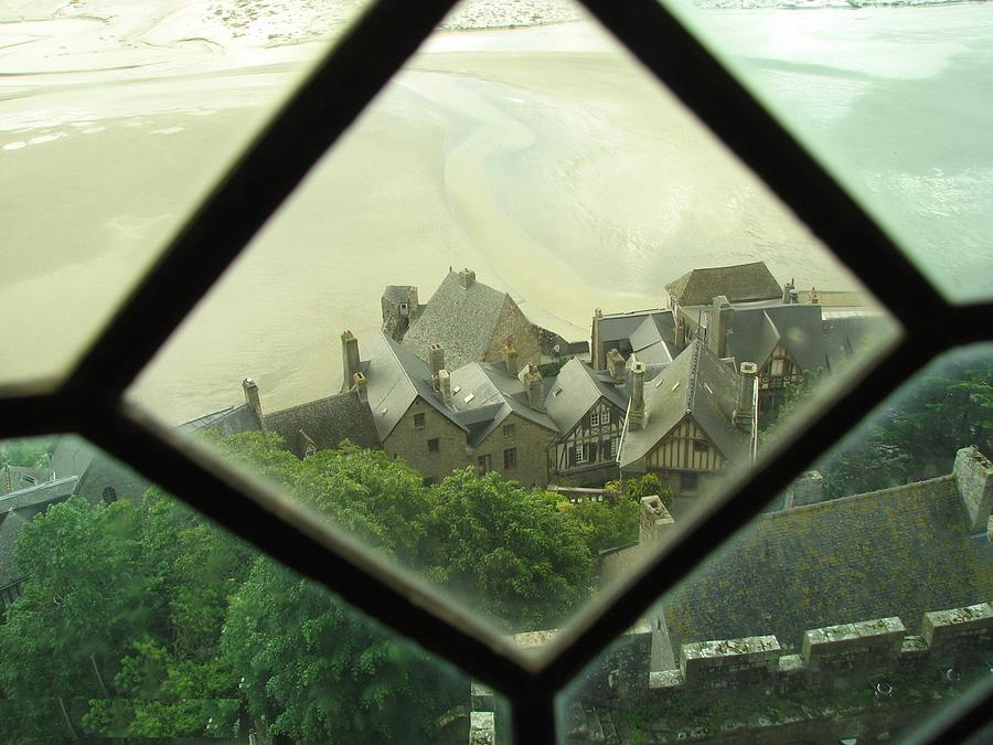 Le Mont St-michel Photograph - Through A Window To The Past by Mary Ellen Mueller Legault