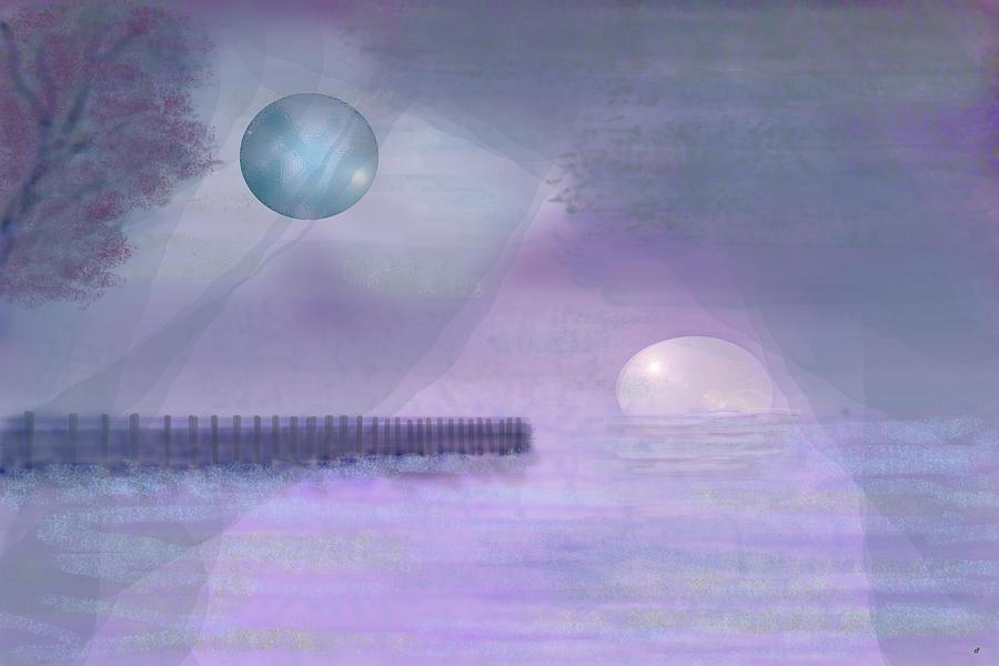 Alien Digital Art - Through Gossamer by Peri Craig