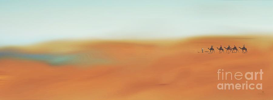 Caravan Painting - Through The Desert by Hannes Cmarits