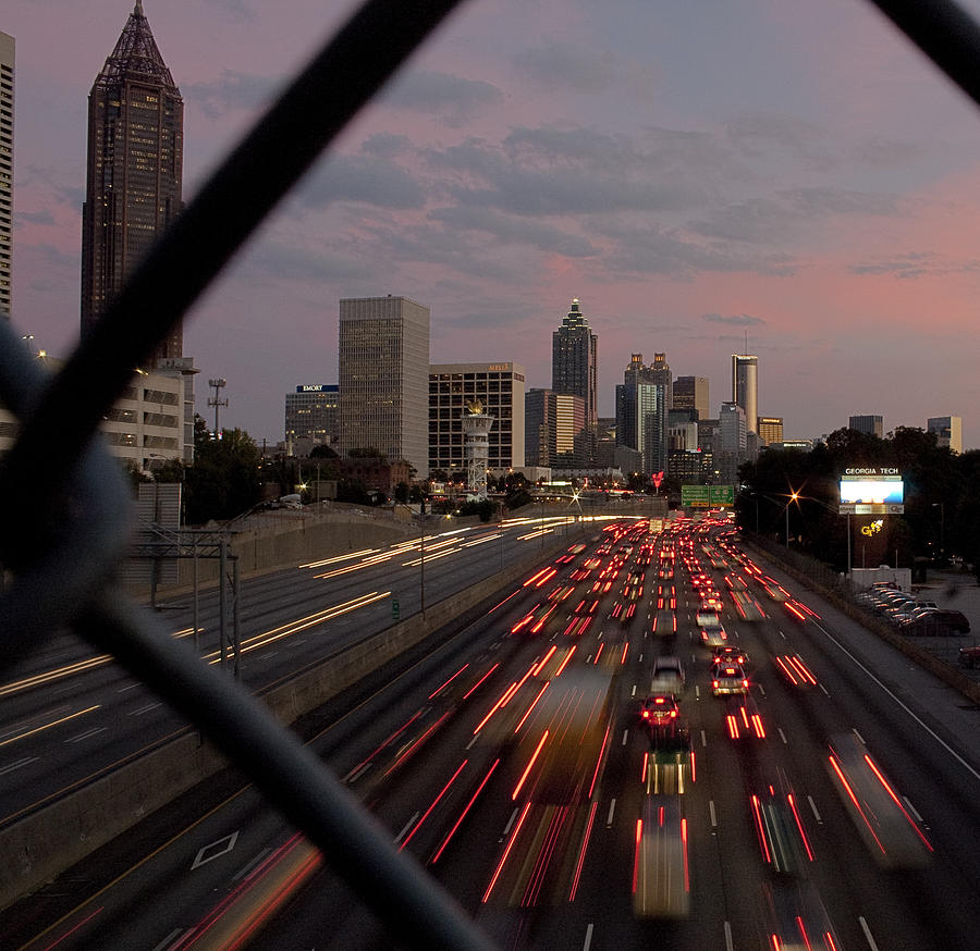 Atlanta Photograph - Through The Fence by Stephen Gray