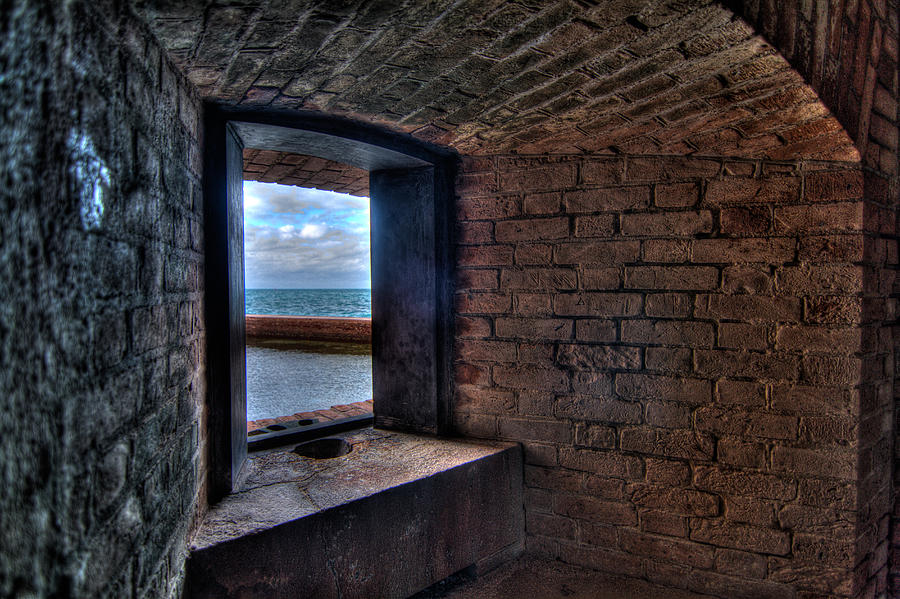 Abstract Photograph - Through The Fort Window by Andres Leon