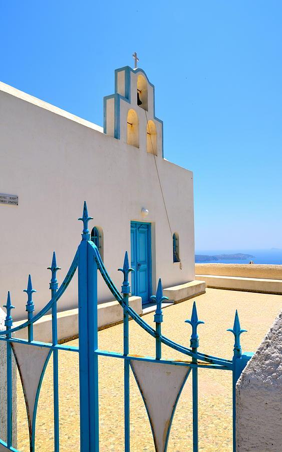 Santorini Photograph - Through The Gates by Corinne Rhode