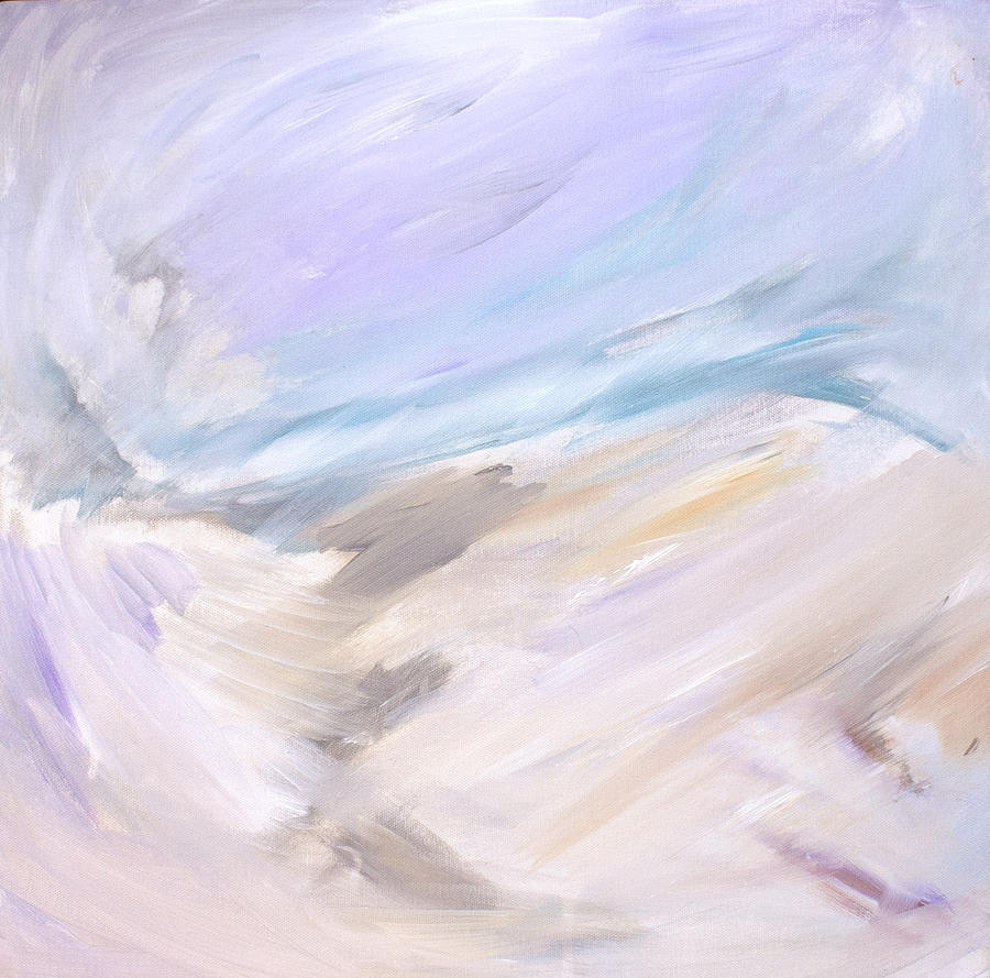 Abstract Painting - Through The Ice  by Tanya Byrd