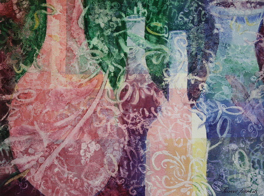 Abstracted Painting - Through The Lace by Roxanne Tobaison