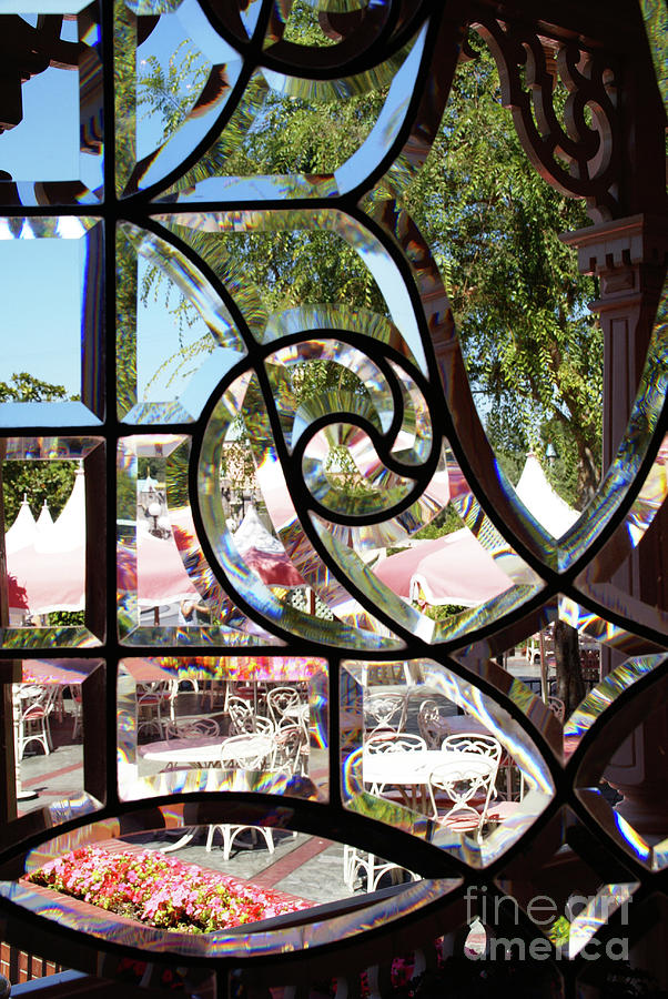 Window Photograph - Through The Looking Glass by Linda Shafer
