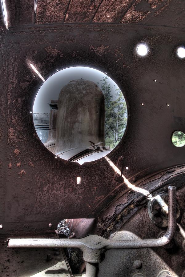 Port Hole. Engine No 5 Photograph - Through The Port Hole. by Ian  Ramsay