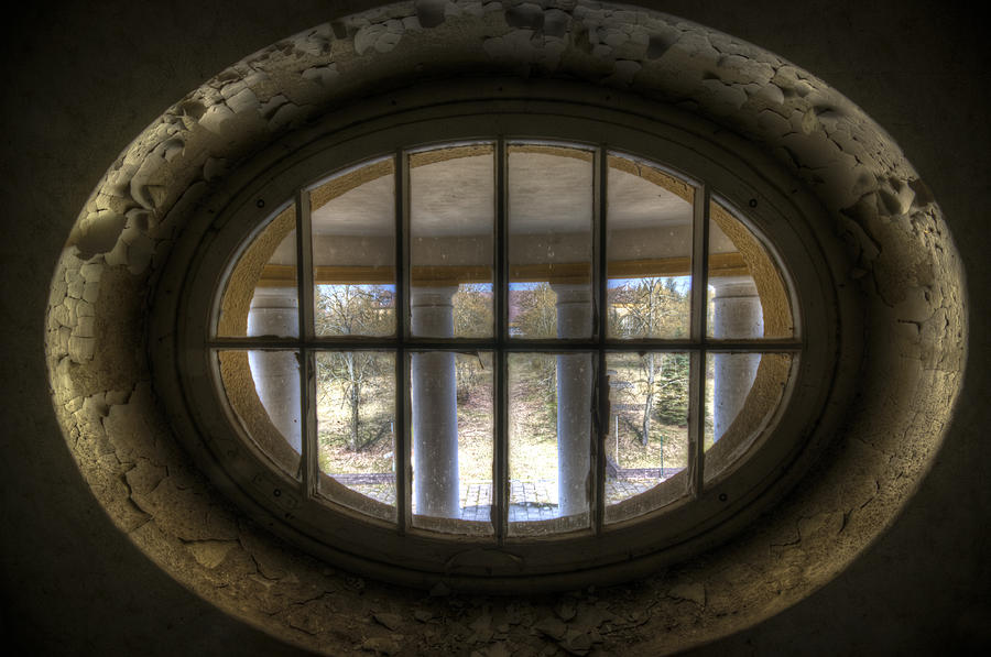 Abandoned Digital Art - Through The Round Window by Nathan Wright