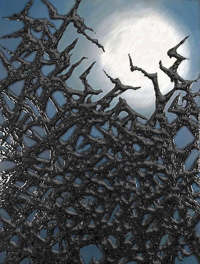 Blue Digital Art - Through The Thicket by Jason White