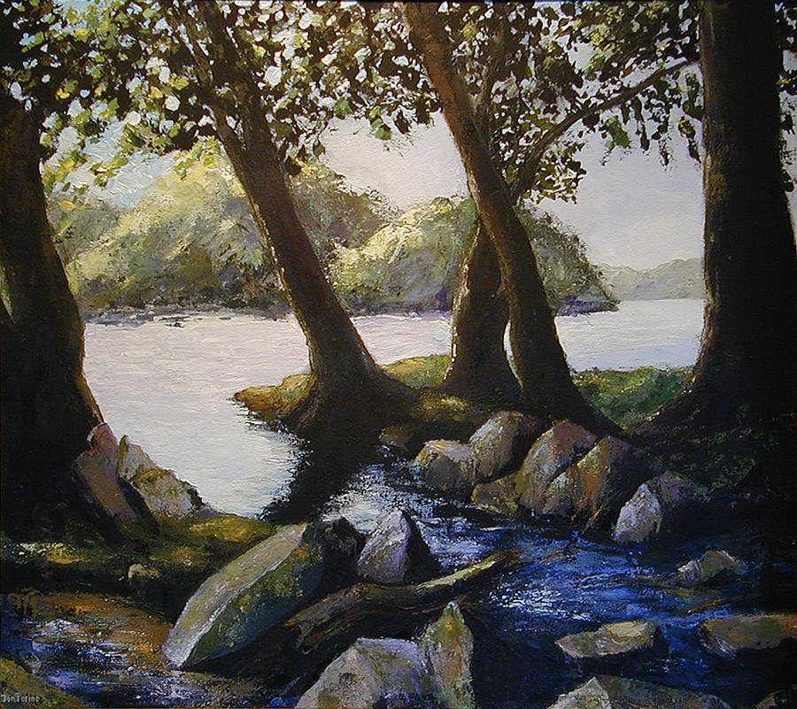 Potomac Painting - Through The Trees by Don Perino