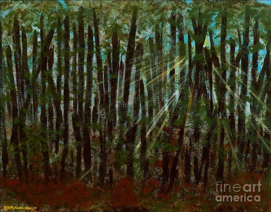 Landscape Painting - Through The Trees by Hillary Binder-Klein