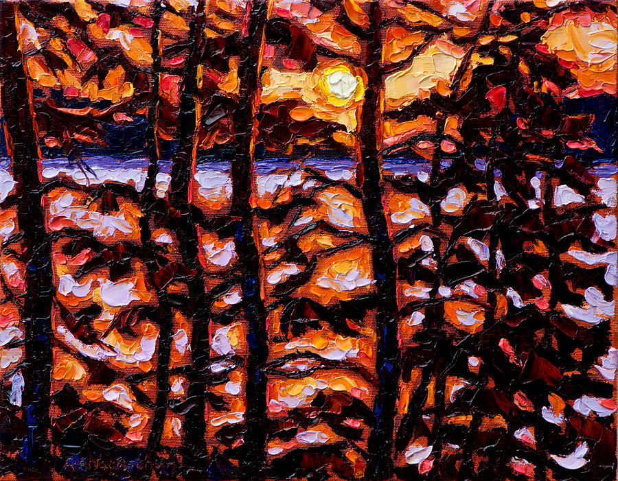 Sunset Painting - Through The Trees by Rob MacArthur