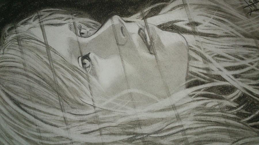 Girl Painting - Through The Window by Beena  Antony