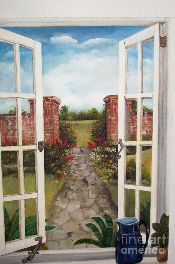9dd71de0e069 Through The Window Painting by Kenneth Harris