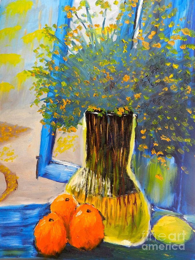 Nature Painting - Through The Window by Pamela  Meredith