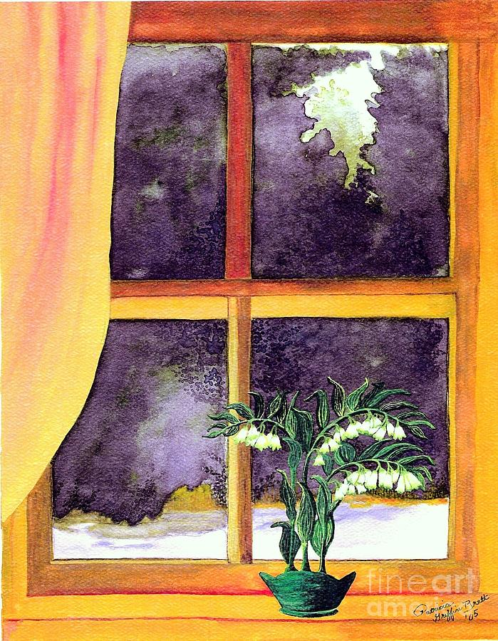 Watercolor Painting - Through The Window by Patricia Griffin Brett