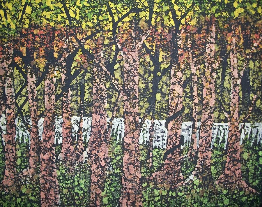 Forest Tapestry - Textile - Through The Woods by Lukandwa Dominic