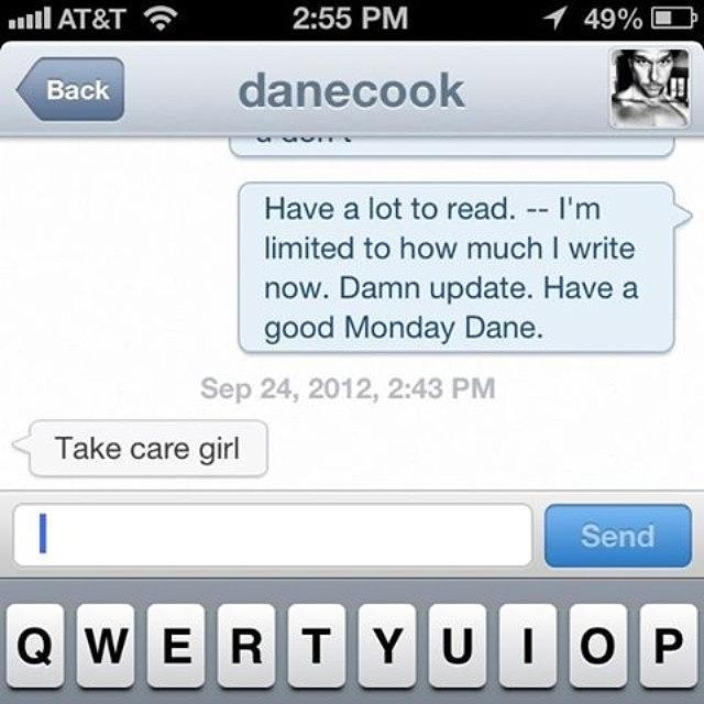Throwback Photograph - Throwback When Dane Cook Responded To by Kristine Dunn