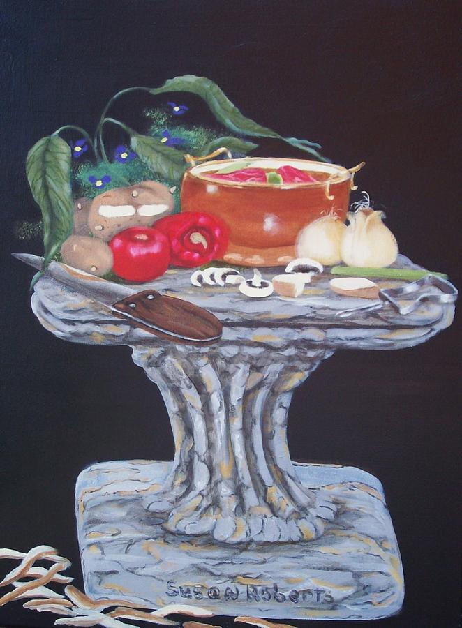 Oil Painting - Thrown Together by Susan Roberts