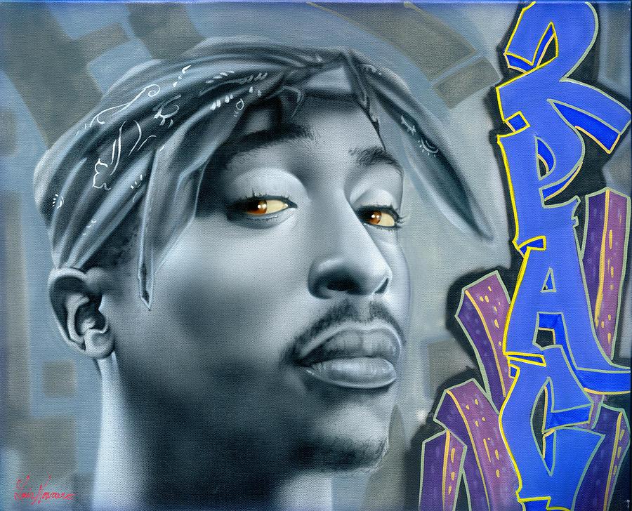 Rap Painting - Thug Life by Luis  Navarro