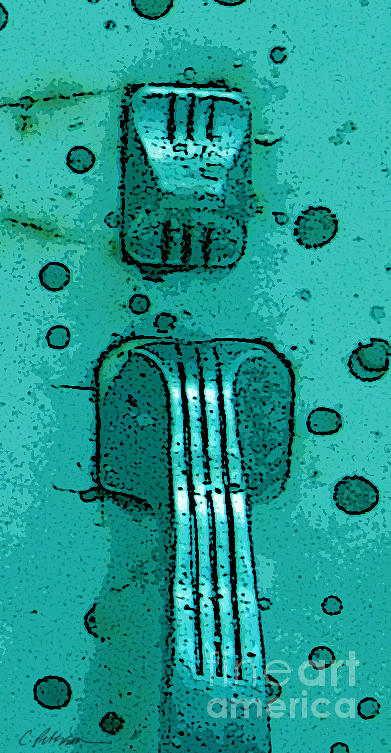 Thumb Slide For A Painter In Teal Digital Art by Cathy Peterson