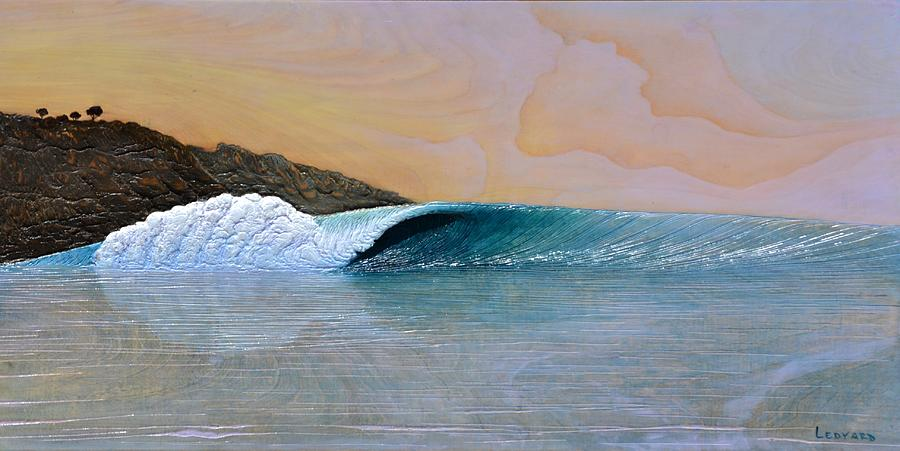 Ocean Painting - Thunder At The Break Of Dawn by Nathan Ledyard