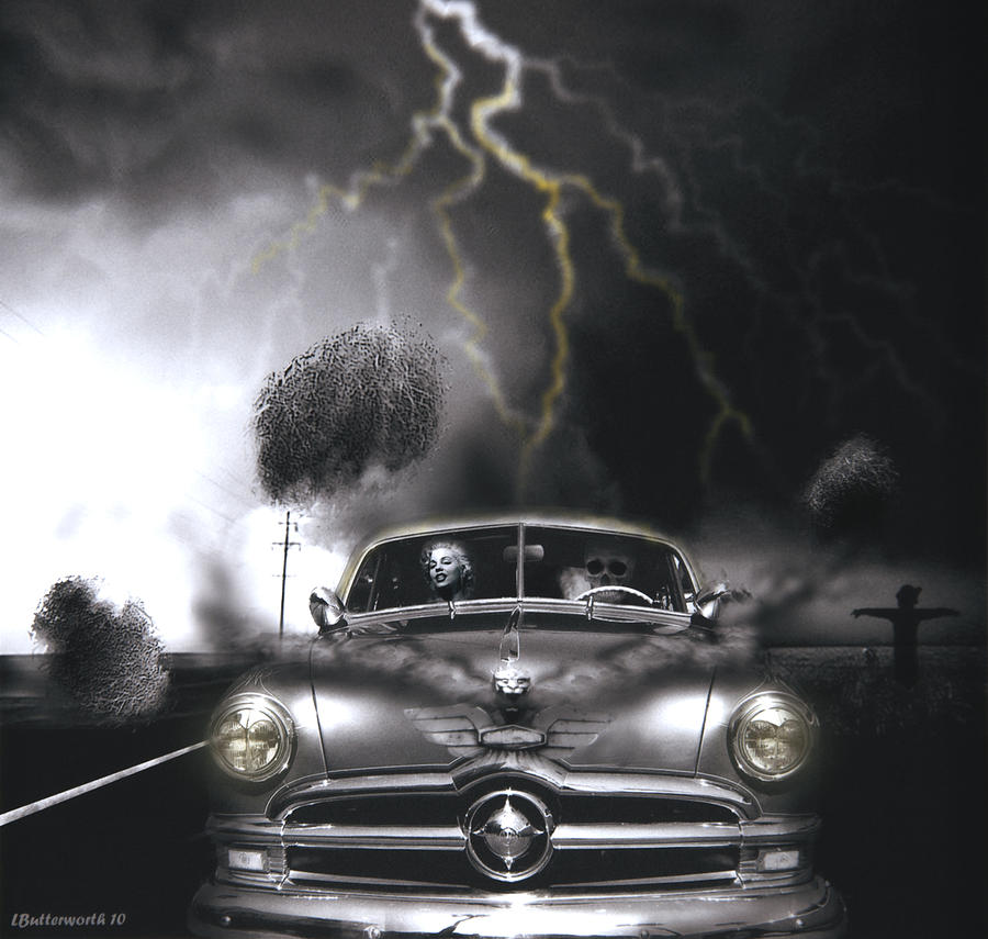 Surrealism Photograph - Thunder Road by Larry Butterworth