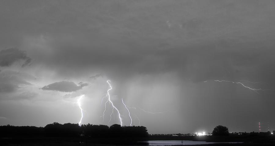 Lightning Photograph - Thunder Rolls And The Lightnin Strikes Bwsc by James BO  Insogna