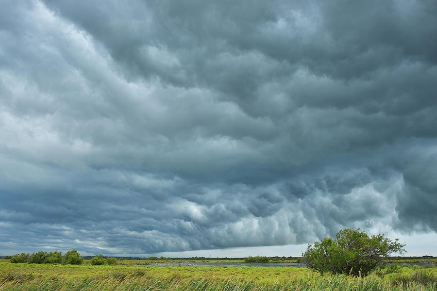 Thunder Storm Over Countryside Photograph by Raimund Linke