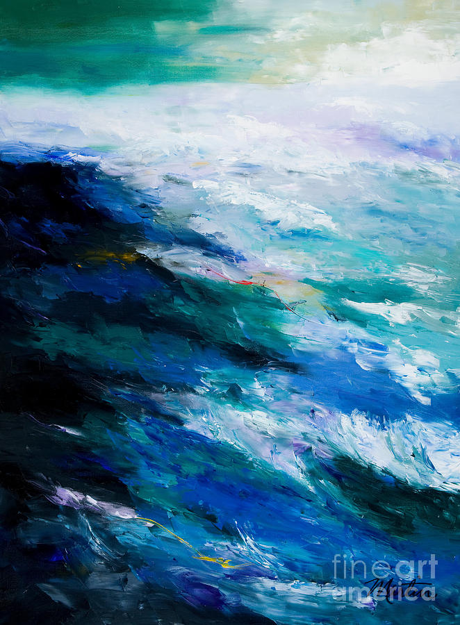 Seascape Painting - Thunder Tide by Larry Martin
