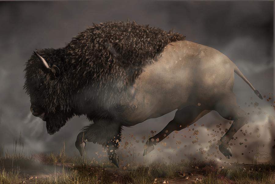 Thunder Beast Digital Art - Thunderbeast by Daniel Eskridge