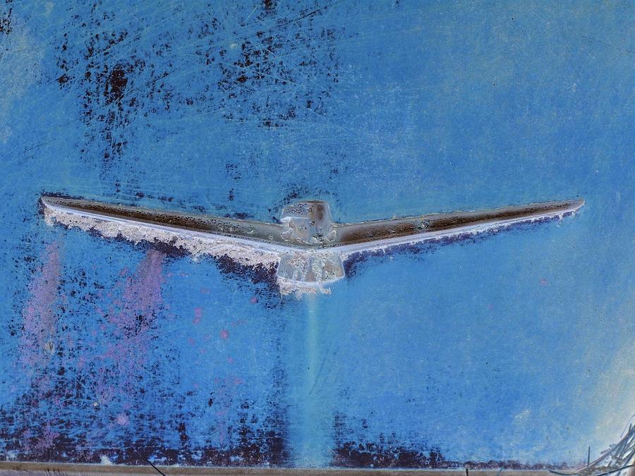 Blue Photograph - Thunderbird Logo by Dietrich ralph  Katz