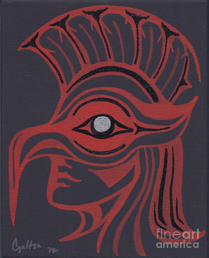 Native American Painting - Thunderbird Mask by A Cyaltsa Finkbonner