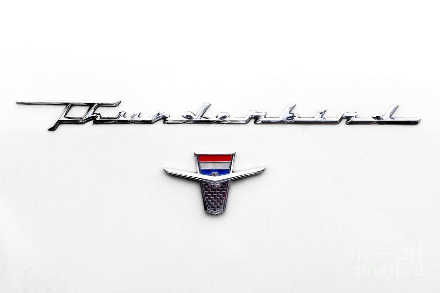 1962 Photograph - Thunderbird Tag by Jerry Fornarotto