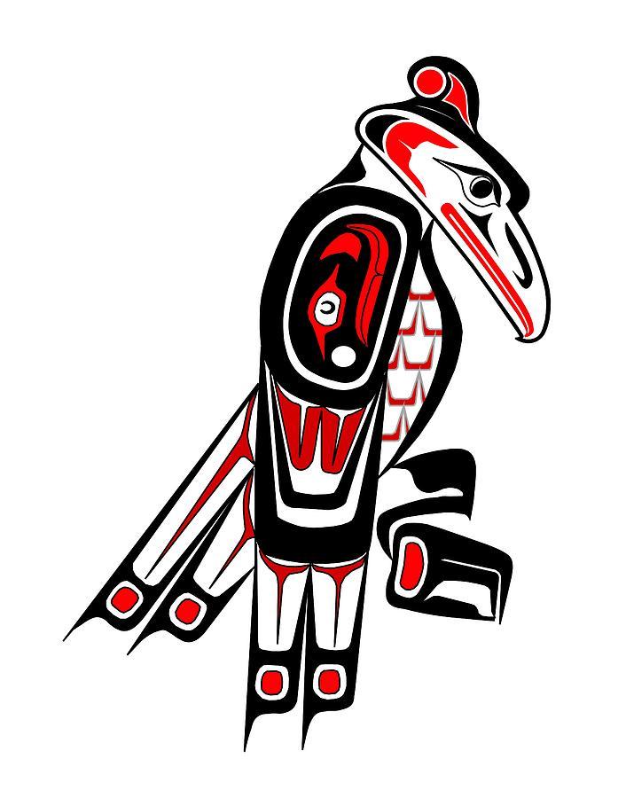 Thunderbird Totem Drawing by Fred Croydon - photo#21