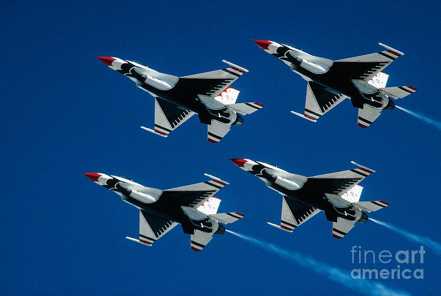 Thunderbirds Photograph - Thunderbirds by Larry Miller
