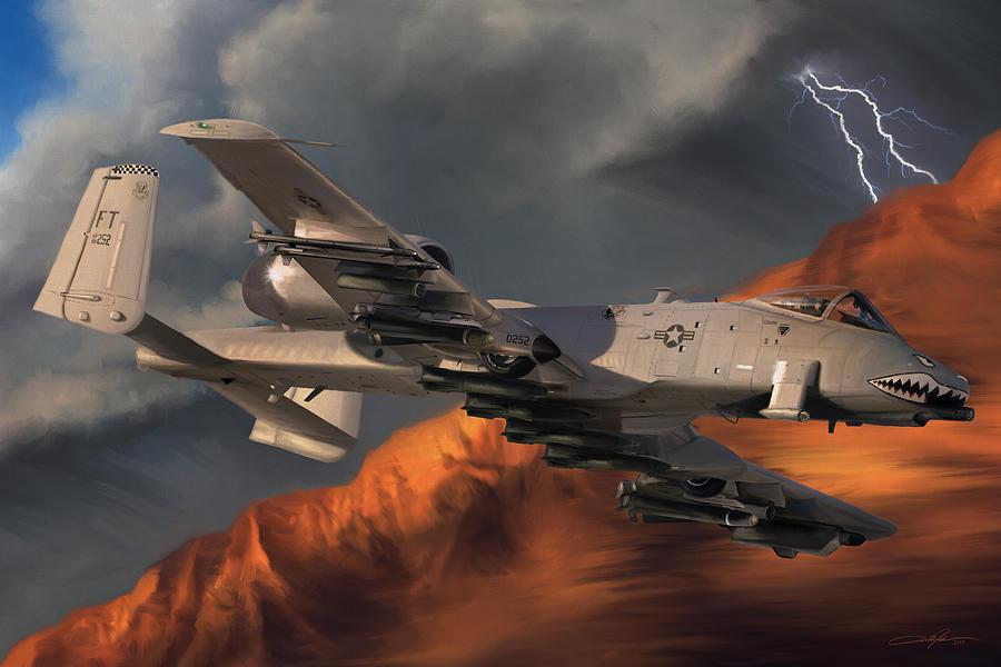 A-10 Digital Art - Thunderbolt II by Dale Jackson