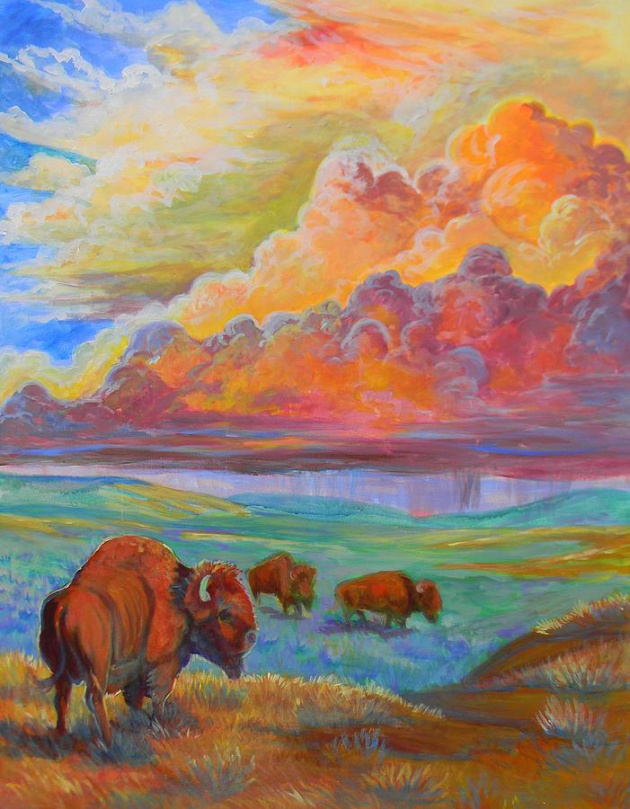 Plains Painting - Thunderheads by Jenn Cunningham