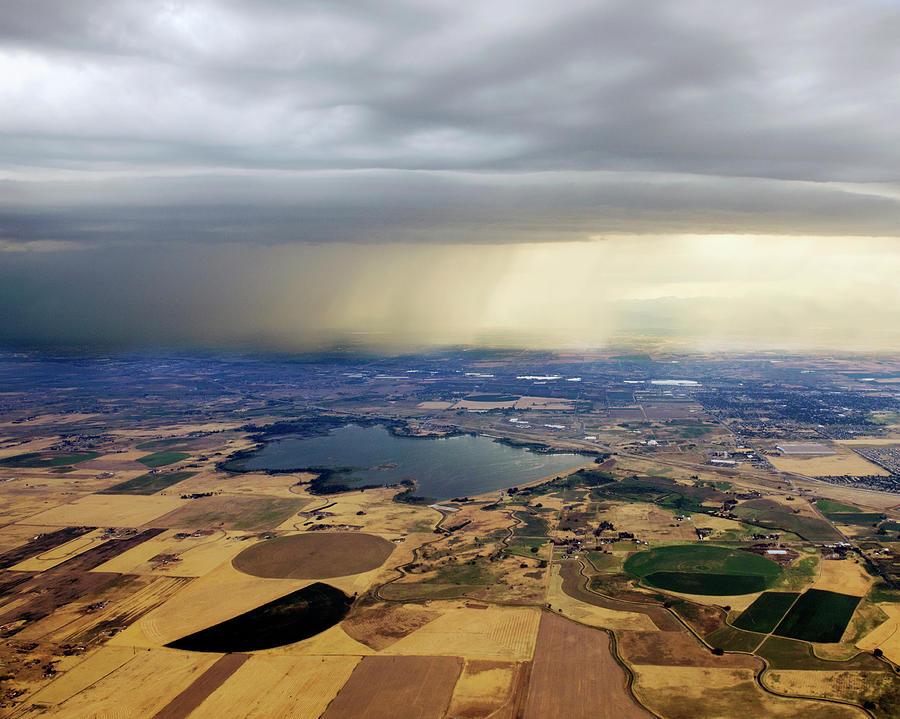 Thunderstorm Over Denver, Colerado Photograph by Gail Shotlander