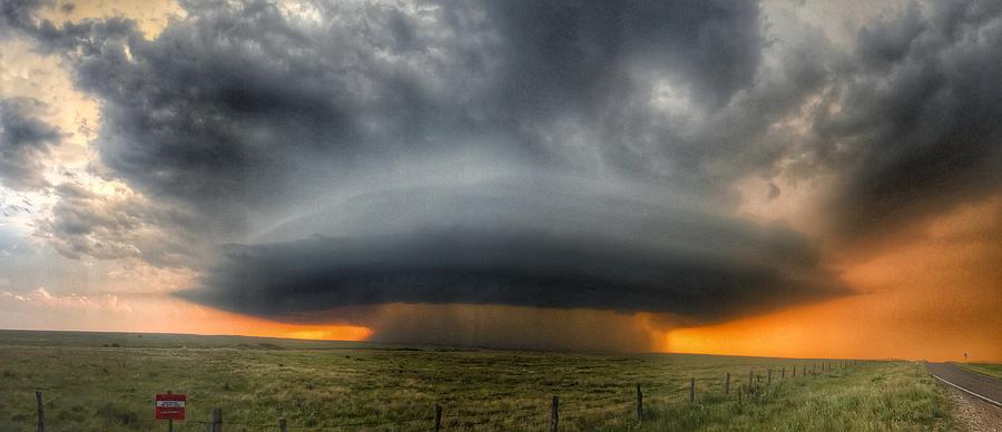 Thunderstorm Over Grassy Field Photograph by Brian Harrison / Eyeem