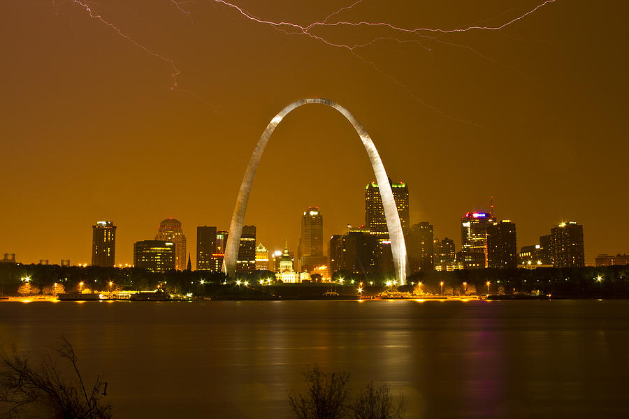 St. Louis Photograph - Thunderstorm Over The City by Garry McMichael