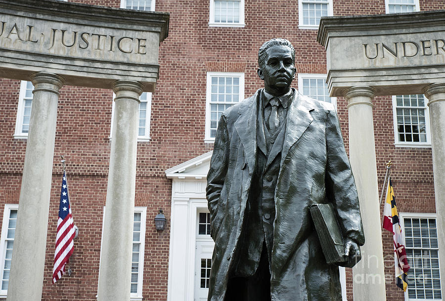 African American Photograph - Thurgood Marshall Memorial by John Greim