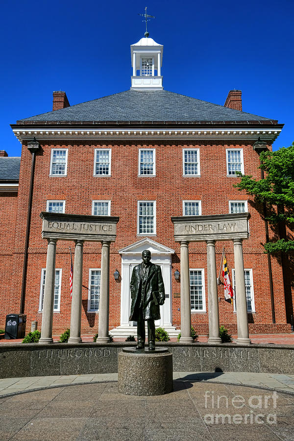 Annapolis Photograph - Thurgood Marshall Memorial by Olivier Le Queinec