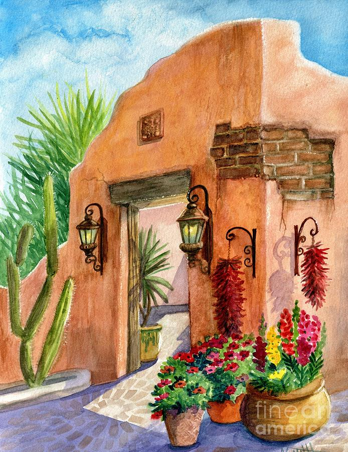 Cafe Painting - Tia Rosa Time by Marilyn Smith