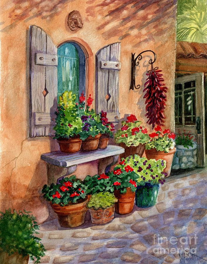 Cafe Painting - Tia Rosas Place by Marilyn Smith