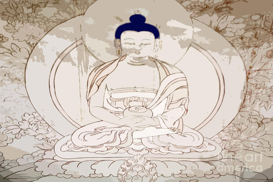Buddhism Photograph - Tibet Buddha by Kate McKenna