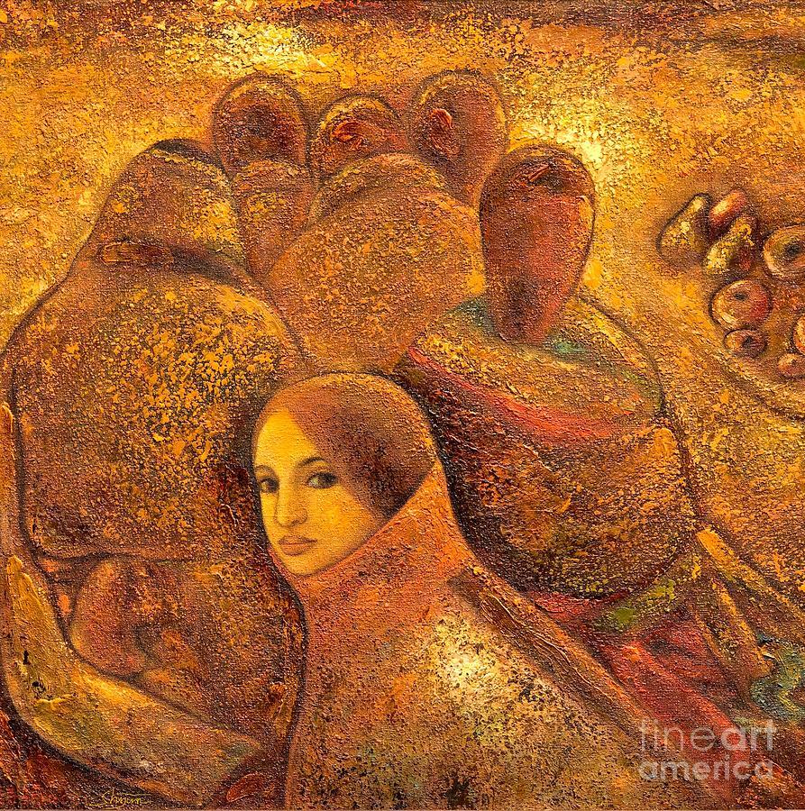 Tibet Painting - Tibet Golden Times by Shijun Munns