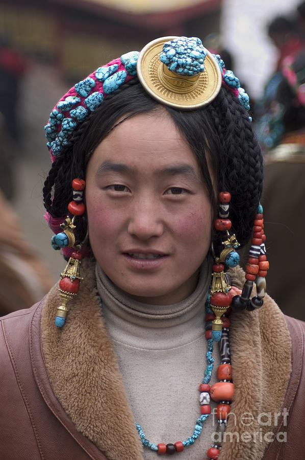 Adventure Photograph - Tibetan Beauty - Kham by Craig Lovell