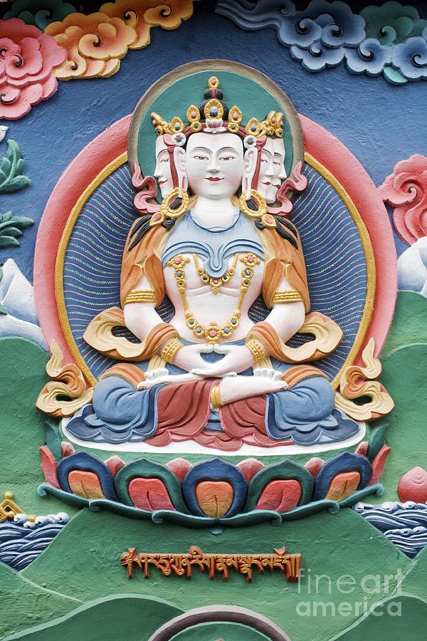 Buddha Photograph - Tibetan Buddhist Temple Deity Sculpture by Tim Gainey