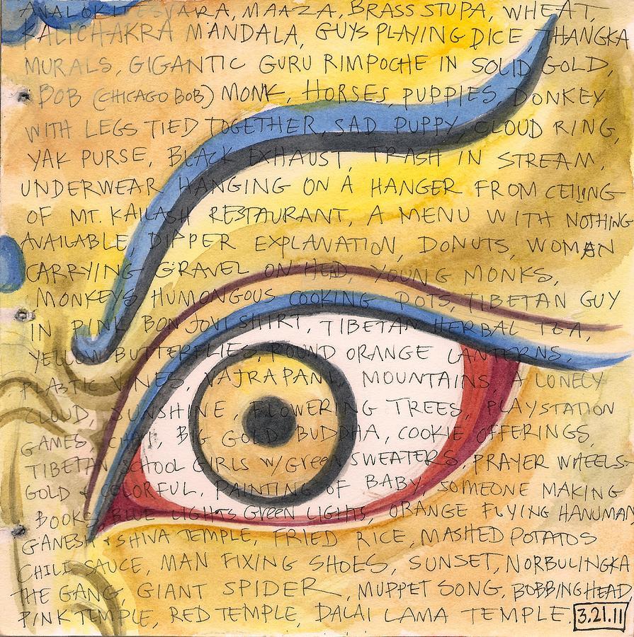 Tibetan Eye Painting by Jennifer Mazzucco