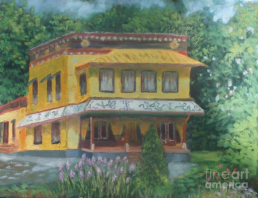 Tibetan Monastery Painting by Ron Bowles